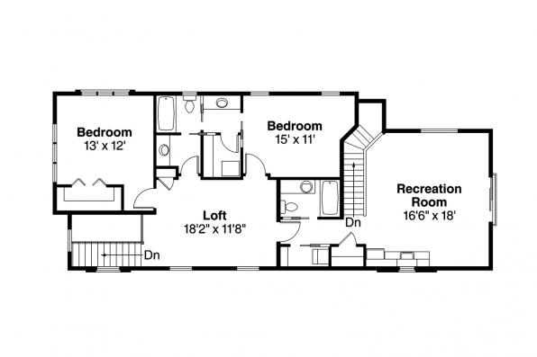 Contemporary House Plan - Stinson 30-891 - 2nd Floor Plan