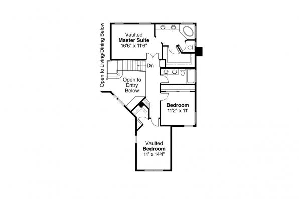 Contemporary House Plan - Tiffany 50-002 - 2nd Floor Plan