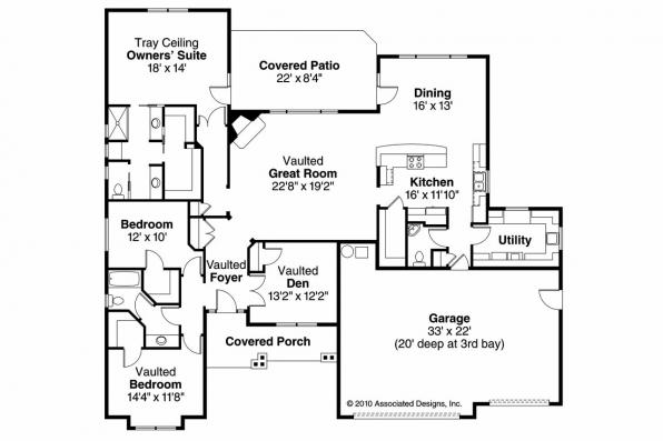 Cottage House Plan - River Grove 30-762 - Floor Plan