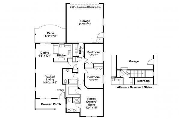 Cottage House Plan - Callaway 30-641 - Floor Plan