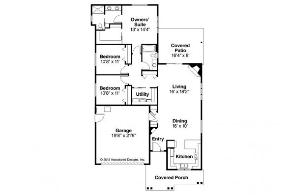 Cottage House Plan - Caspian 30-868 - Floor Plan