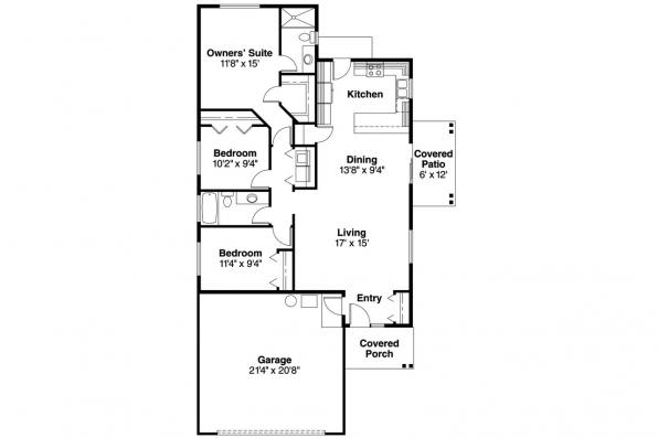 Cottage House Plan - Lindley 30-546 - Floor Plan