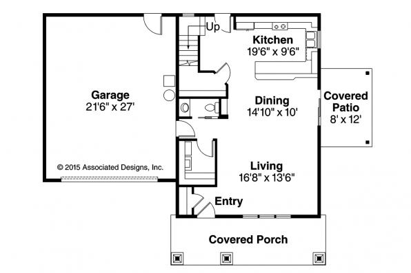 Cottage House Plan - Molalla 30-685 - First Floor Plan