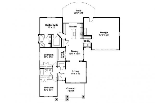 Cottage House Plan - St. Clair 30-383 - Floor Plan