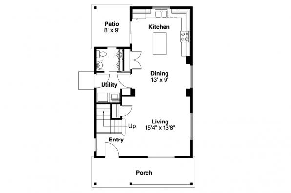 Cottage House Plan - Watkins 30-401 - 1st Floor Plan