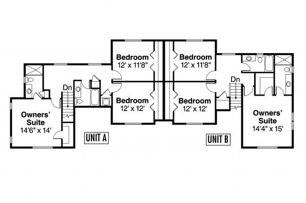 Country house plans warrendale 60 036 associated designs for 2 bedroom 1 bath duplex floor plans