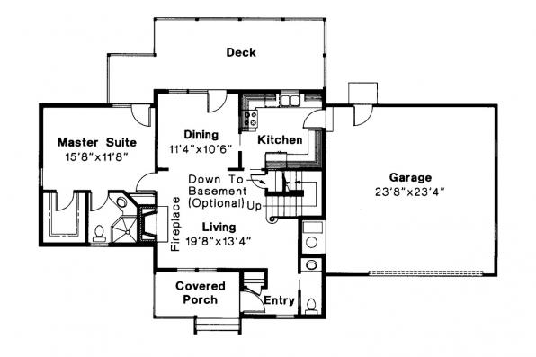 Country House Plan - Abbot 10-075 - 1st Floor Plan