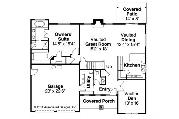 Country House Plan - Acadia 30-961 - First Floor Plan