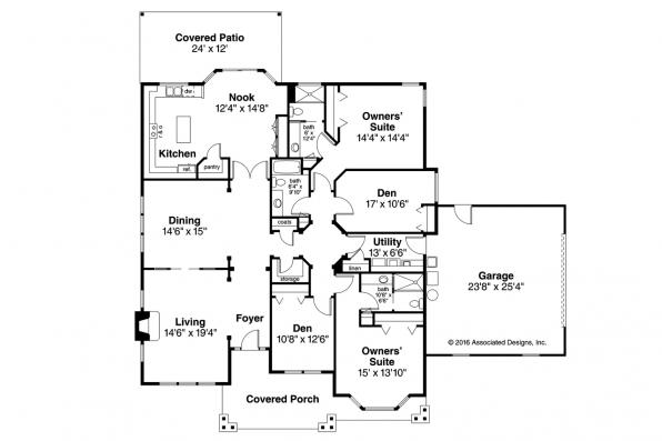 Country House Plan - Ashley 30-264 - Floor Plan
