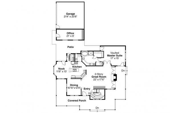 Country House Plan - Atkinson 30-060 - 1st Floor Plan