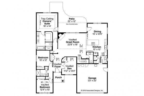 Country House Plan - Barrington 31-058 - Floor Plan