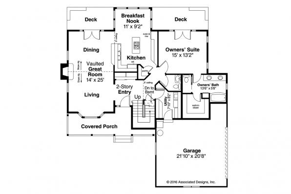 Country House Plan - Birmingham 10-206 - 1st Floor Plan