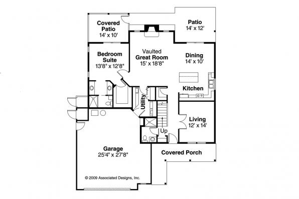 Country House Plan - Bryson 30-204 - 1st Floor Plan