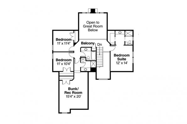 Country House Plan - Bryson 30-204 - 2nd Floor Plan