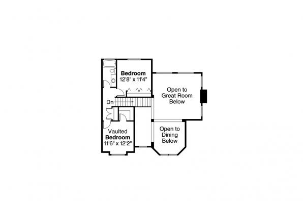 Country House Plan - Charleston 10-252 - 2nd Floor Plan