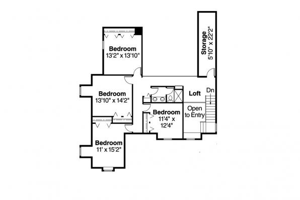 Country House Plan - Clayton 10-292 - 2nd Floor Plan