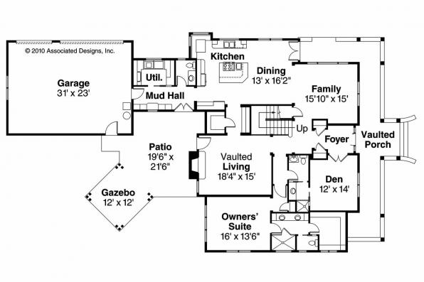 Country House Plan - Coburg 30-637 - 1st Floor Plan