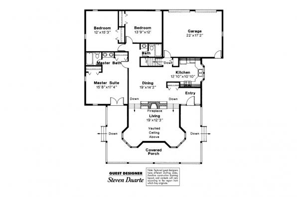 Country House Plan - Demerara 41-004 - Floor Plan