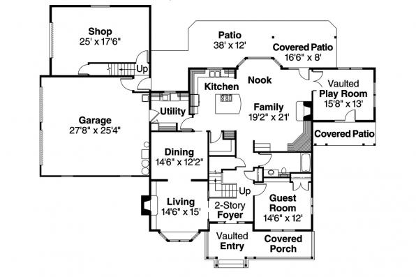 Country House Plan - Eganville 30-428 - 1st Floor Plan