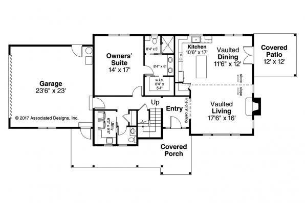 Country House Plan - Fairhaven 31-077 - First Floor Plan