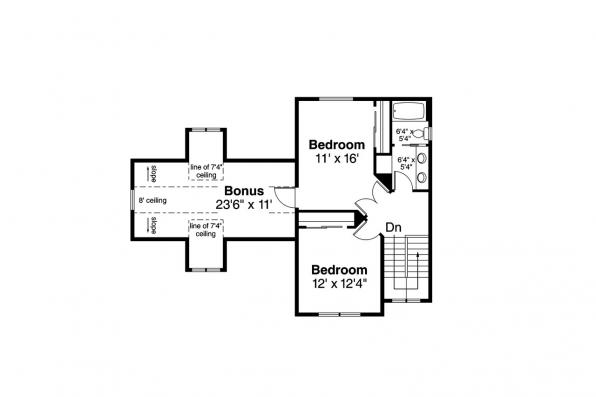 Country House Plan - Fairhaven 31-077 - Second Floor Plan