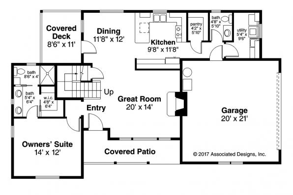 Country House Plan - Farmington 31-068 - First Floor Plan