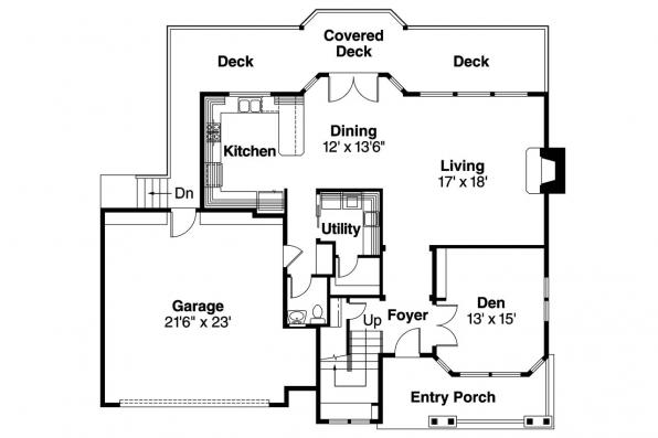 Country House Plan - Frederick 30-507 - 1st Floor Plan