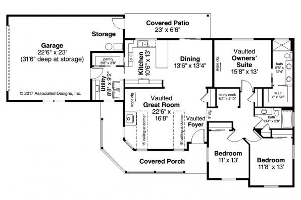 Country House Plans Hayden 30 981 Associated Designs