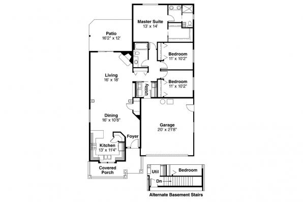 Country House Plan - Holbrook 30-190 - Floor Plan