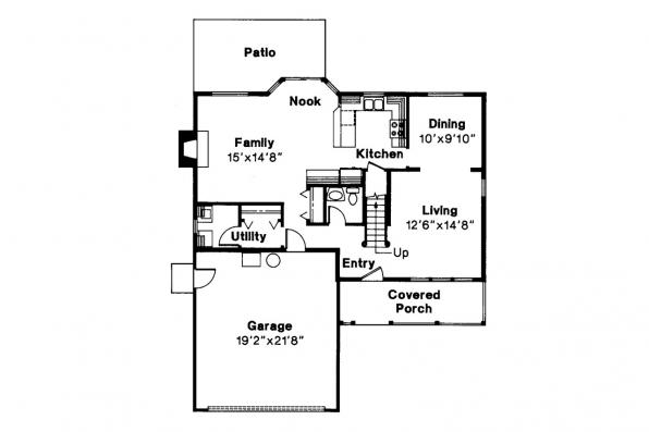 Country House Plan - Hudson 30-086 - 1st Floor Plan