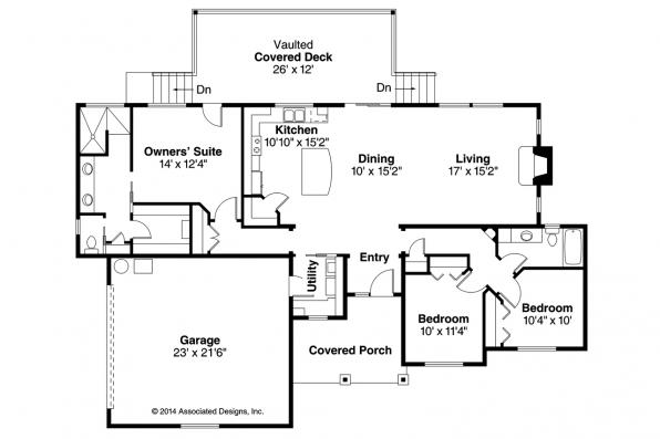 Country House Plan - Kensington 30-843 - Floor Plan