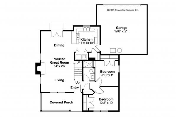 Country House Plan - Lockhart 30-104 - 1st Floor Plan