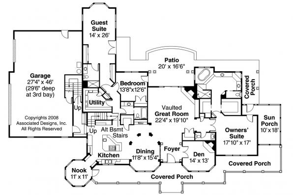 Country House Plan - Louisville 10-431 - 1st Floor Plan