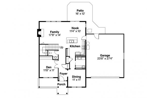 Country House Plan - McKinnon 30-420 - 1st Floor Plan