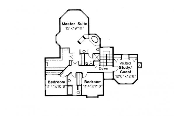 Country House Plan - Melville 10-096 - 2nd Floor Plan