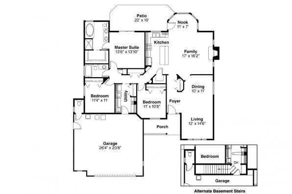 Country House Plan - Morely 30-266 - Floor Plan