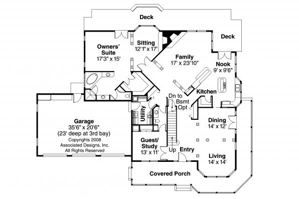 Country House Plan - Morgan 10-059 - 1st Floor Plan