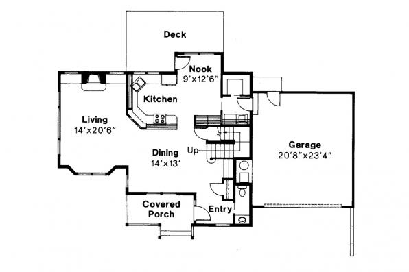Country House Plan - Newberg 10-138 - 1st Floor Plan