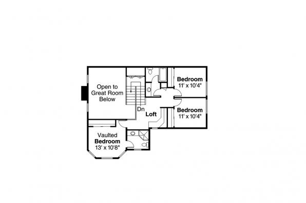 Country House Plan - Oakheart 10-400 - 2nd Floor Plan