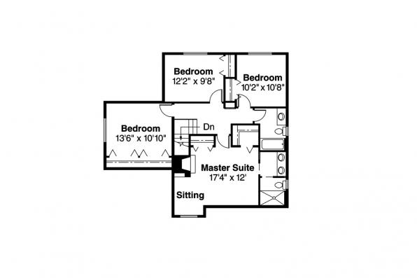 Country House Plan - Prescott 10-260 - 2nd Floor Plan