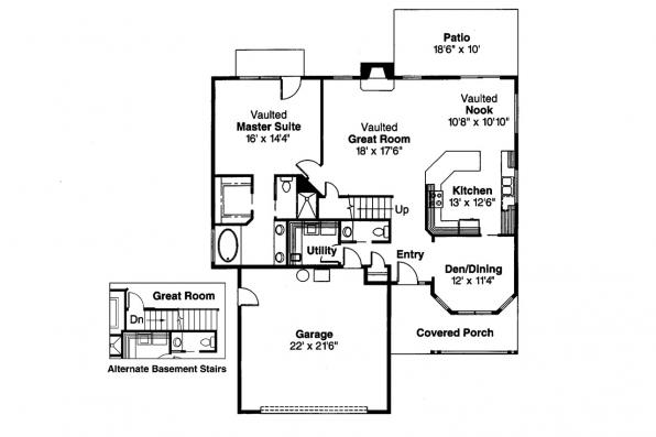 Country House Plan - Selkirk 30-119 - 1st Floor Plan