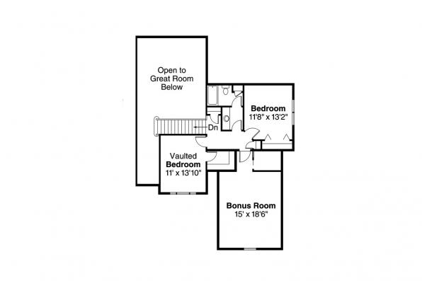 Country House Plan - Whitehaven 30-431 - 2nd Floor Plan