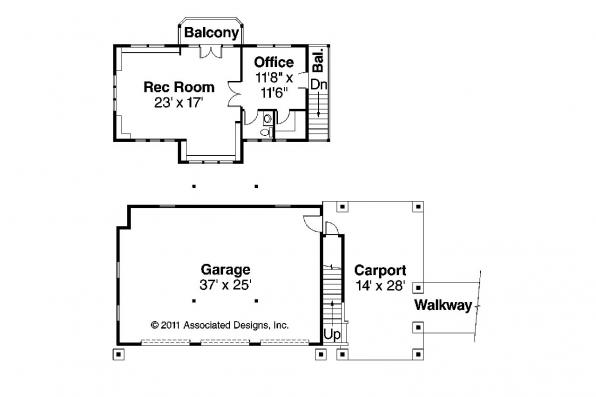 Craftsman House Plan - Summerfield 30-611 - Garage Plan