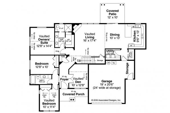 Craftsman House Plan - Azalea 31-028 - Floor Plan