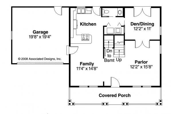 Craftsman House Plan - Bailey 30-262 - 1st Floor Plan