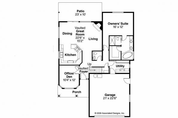 Craftsman House Plan - Bigsby 30-642 - 1st Floor Plan