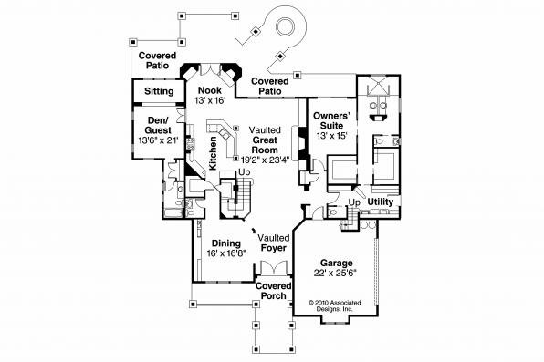 Craftsman House Plan - Breckenridge 30-483 - 1st Floor Plan