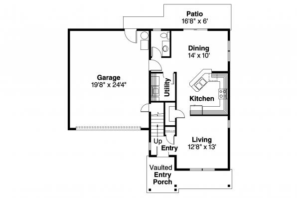 Craftsman House Plan - Calhoun 30-479 - 1st Floor Plan