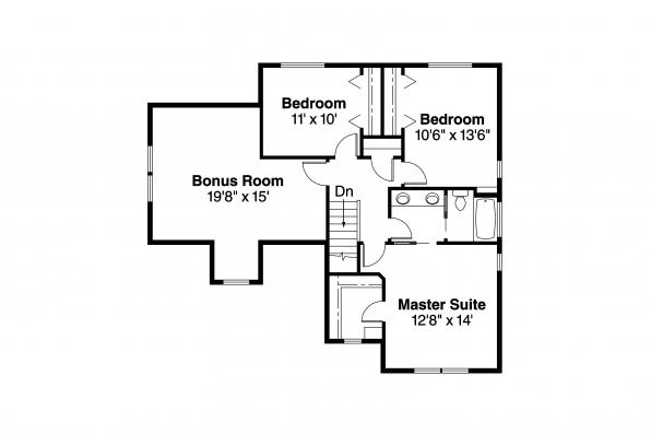 Craftsman House Plan - Calhoun 30-479 - 2nd Floor Plan