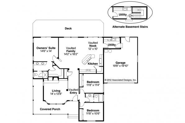 Craftsman House Plan - Cambridge 10-045 - Floor Plan